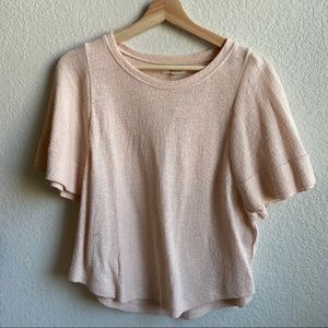 Madewell blush top - new with tag - size S